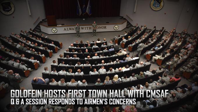 Goldfein hosts first town hall with CMSAF
