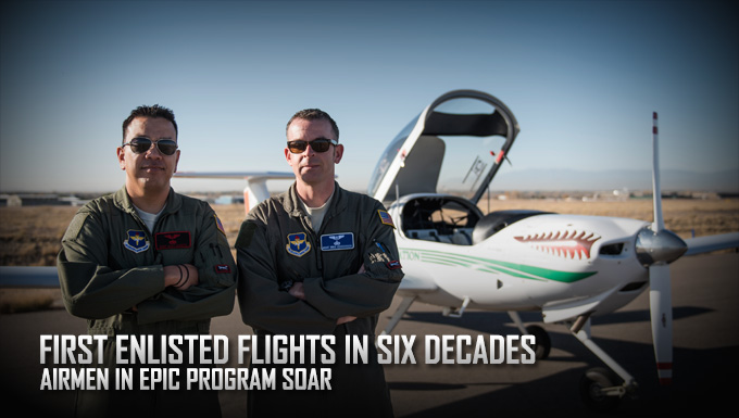 First enlisted flights in six decades