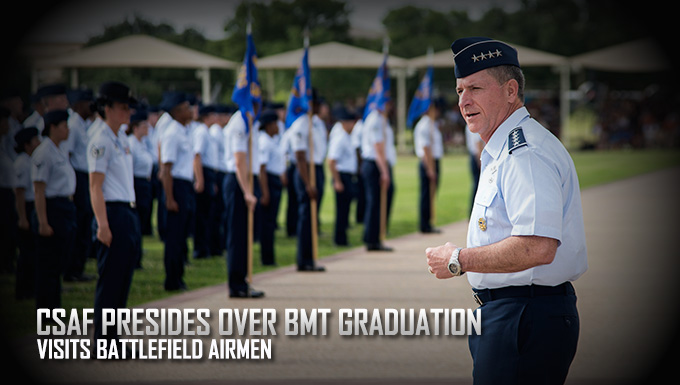 CSAF Presides over BMT Graduation
