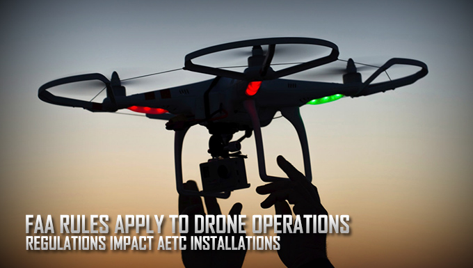 FAA restricts unauthorized drone operations at AETC bases