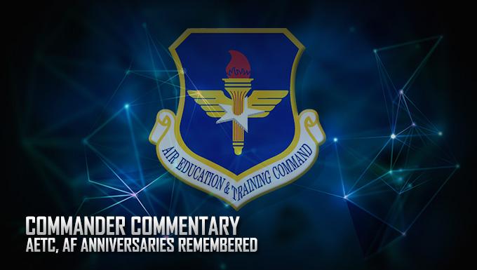 Commander remembers AETC, AF Anniversaries