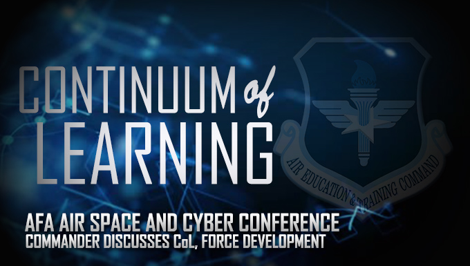 AETC commander discusses Continuum of Learning, Force Development at AFA