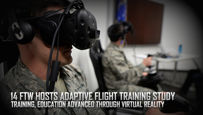 Researchers test virtual reality Adaptive Flight Training Study at Columbus AFB