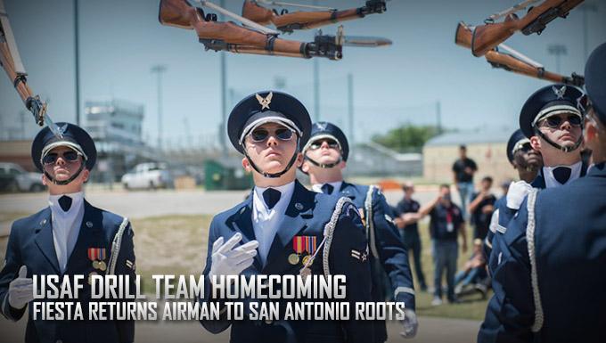 USAF Drill Team Airman returns home for Fiesta