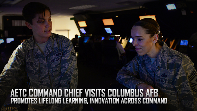AETC command chief visits Columbus AFB